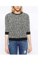 Just Female Mille Leopard Print Sweater - Lyst