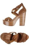 Ralph Lauren Collection Platform Sandals - Lyst