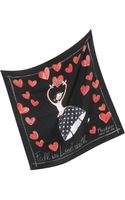 Moschino Fall in Love with Silk Square Scarf - Lyst