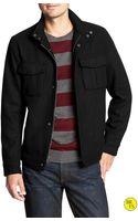 Banana Republic Factory Black Wool Blend Jacket Black - Lyst