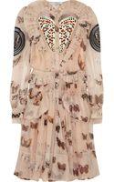 Givenchy Butterfly-print Silk-chiffon Dress - Lyst