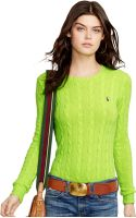 Polo Ralph Lauren Crew-neck Cable-knit Sweater - Lyst