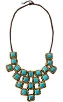 Panacea Chalcedony Rope Bib Necklace Blue - Lyst