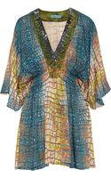 Matthew Williamson Embellished Silk Mini Dress - Lyst