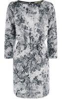 Oasis Rose Print Sweat Dress - Lyst