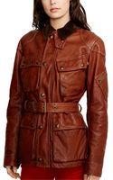 Polo Ralph Lauren Leather Moto Jacket - Lyst