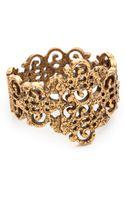 Oscar de la Renta Gold Lace Bracelet Russian Gold - Lyst