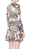 Just Cavalli Reptile Varsaviaprint Fit Flare Dress - Lyst