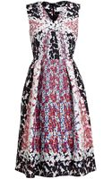 Peter Pilotto Full Print Textured Stretch Silk Dress - Lyst
