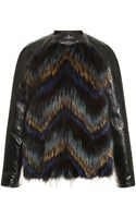 J. Mendel Multicolor Silver Fox and Eel Jacket - Lyst