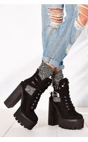 Jeffrey Campbell Abner Heeled Work Boot - Lyst