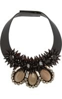 Marni Embellished Leather Necklace - Lyst