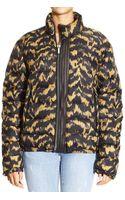 Roberto Cavalli Down Jacket Jacket Coat Bomber Print Maculato - Lyst