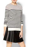 Vince Colorblock Breton Stripe Cashmere Sweater - Lyst
