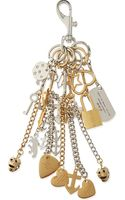Marc By Marc Jacobs Multi-charm Metal Chain Keyring Argento - Lyst