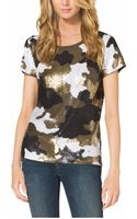 Michael Kors Camouflageprint Sequined Top Plus Size - Lyst