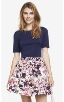 Express Cropped Zip Back Tee - Lyst