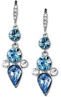 Givenchy Silvertone Bluecolored Crystal Drop Earrings - Lyst