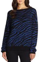 Diane Von Furstenberg Zebrapattern Wool Jacquard Sweater - Lyst