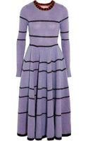 Roksanda Ilincic Teasdale Striped Knitted Midi Dress - Lyst