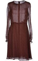 Valentino Kneelength Dress - Lyst