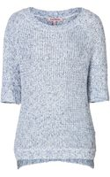 Juicy Couture Cotton Blend Marled Pullover - Lyst