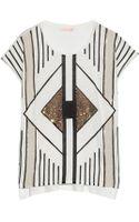 Sass & Bide Anything Goes Embellished Slubcotton Tshirt - Lyst