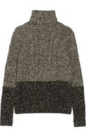 Vince Two-tone Cable-knit Wool Turtleneck Sweater - Lyst