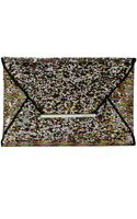 BCBGMAXAZRIA Harlow Sequined Envelope Clutch - Lyst