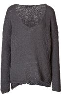 Donna Karan New York Woolcashmere Ponchostyle Pullover - Lyst