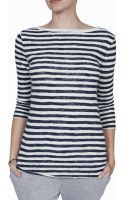 V :: Room Striped Boatneck Shirt - Lyst