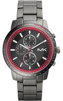 Michael Kors Oversize Gunmetal Stainless Steel Granger Chronograph Watch - Lyst