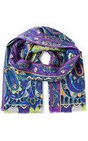 Etro Psychedelic Print Scarf - Lyst