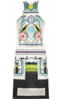 Mary Katrantzou Rodizio Printed Silktwill Dress - Lyst