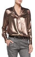 Brunello Cucinelli Crystaldetail Leather Belt - Lyst