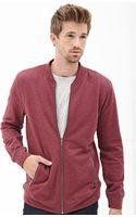 21men Collarless Athletic Jacket - Lyst
