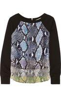 Diane Von Furstenberg Lisha Snake-print Cotton French Terry Sweatshirt - Lyst