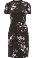 McQ by Alexander McQueen Sliding Seam Floralprint Silk Dress - Lyst