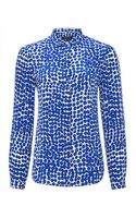 Jaeger Silk Abstract Spot Blouse - Lyst