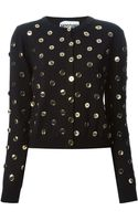 Moschino Button Embellished Cardigan - Lyst