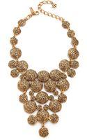 Oscar de la Renta Swirl Necklace Russian Gold - Lyst