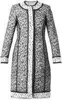 Oscar de la Renta Tweed and Lace Coat - Lyst