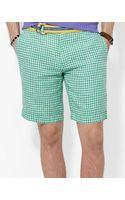 Ralph Lauren Polo Straightfit New Haven Checked Linen Short - Lyst