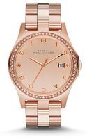 Marc By Marc Jacobs Henry Glitz Rose Goldtone Ip Stainless Steel Bracelet Watch - Lyst