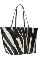 Coach Zebra Embossed Taxi Taxi Zip Tote - Lyst