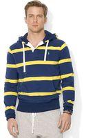 Polo Ralph Lauren Striped Fleece Hoodie - Lyst
