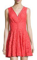 Alberto Makali Floral-lace V-neck Dress - Lyst