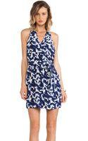 Greylin Trina Silk Faux Wrap Dress - Lyst