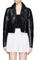 T By Alexander Wang Leather Motorcycle Jacket - Lyst