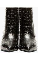 Saint Laurent Black Leather Micro Stud Cat Boots - Lyst